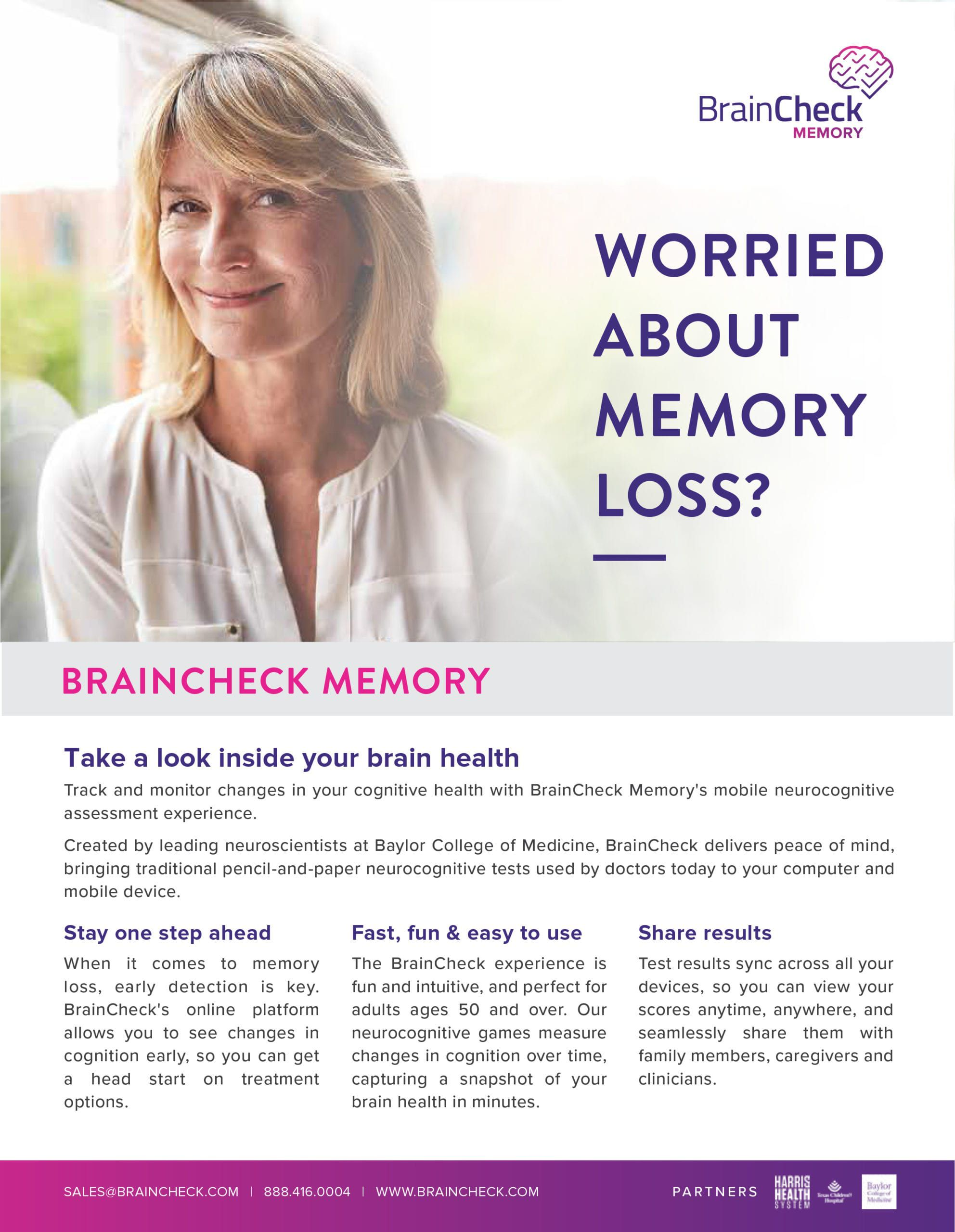 Brain Check Memory Article
