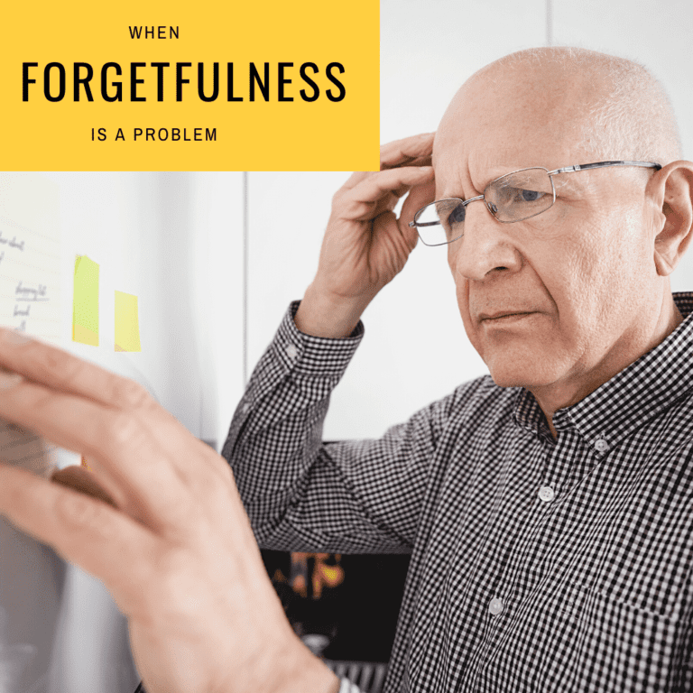 When forgetfulness is a problem